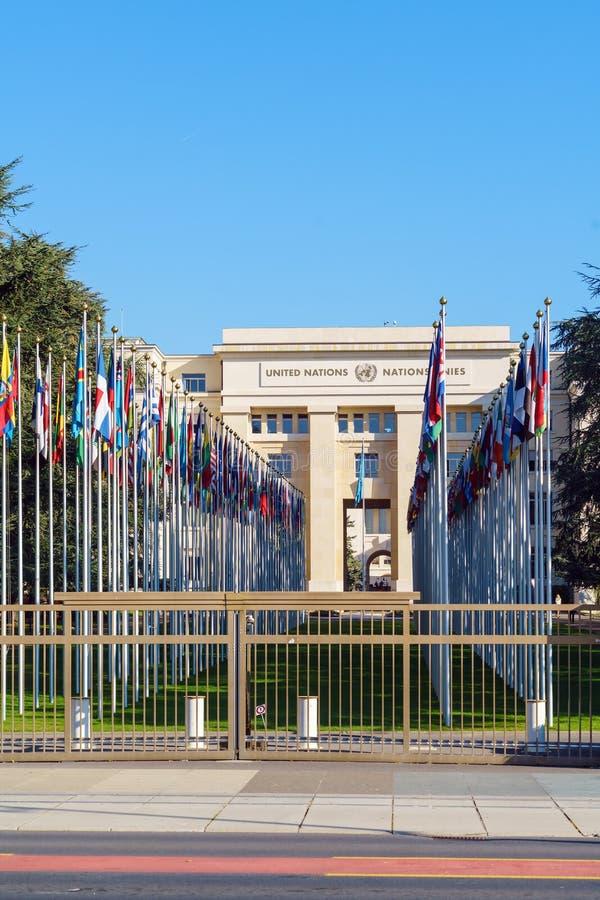 日内瓦,瑞士- 2017年10月18日:联合国成员St 图库摄影