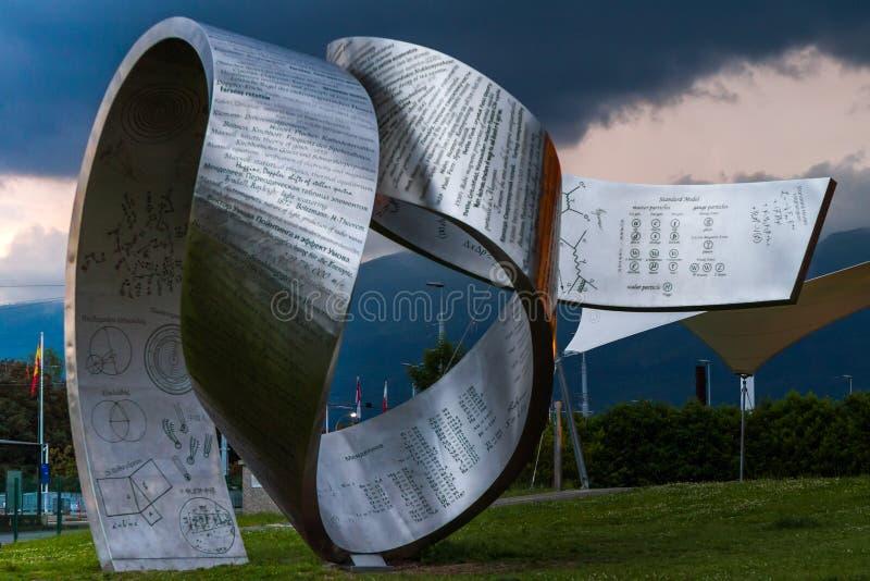 日内瓦,瑞士- 2016年6月8日:科学& Innov地球  库存照片