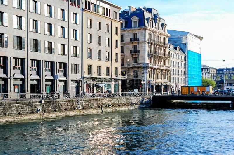 日内瓦 瑞士 日内瓦市都市风景  免版税库存照片