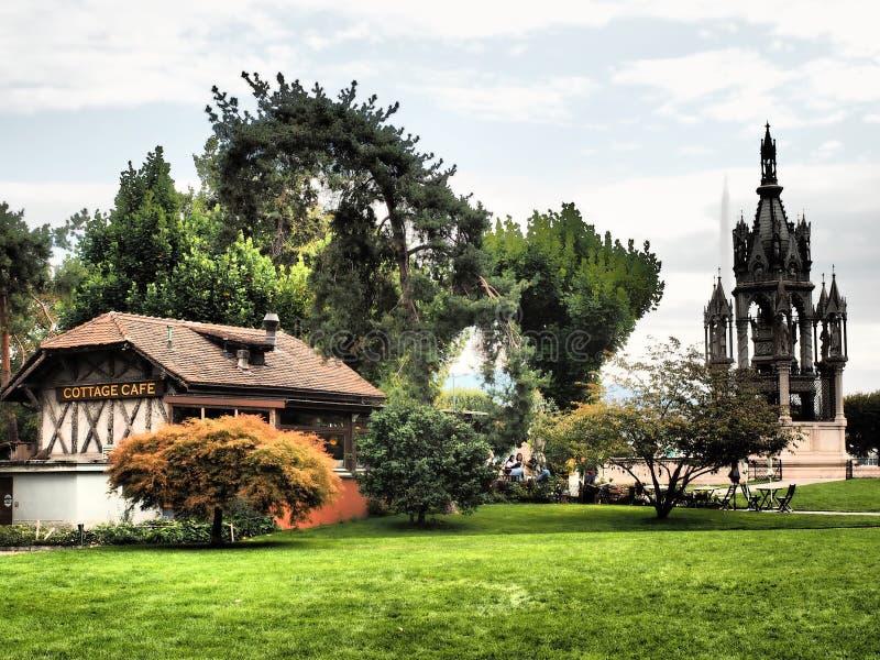 日内瓦-纪念碑陵墓-瑞士2018年 库存照片