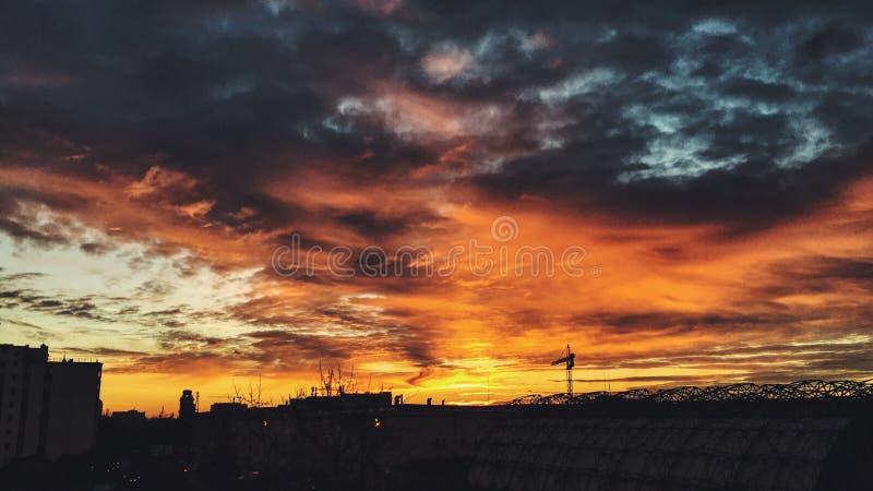 日出上升 库存照片