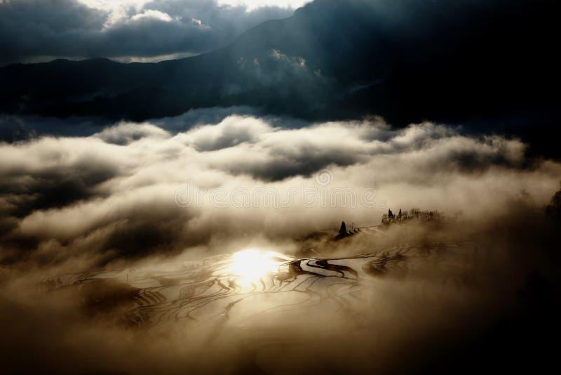 日出原阳,中国 图库摄影
