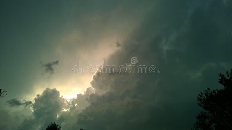 日出和Sunfall 库存图片