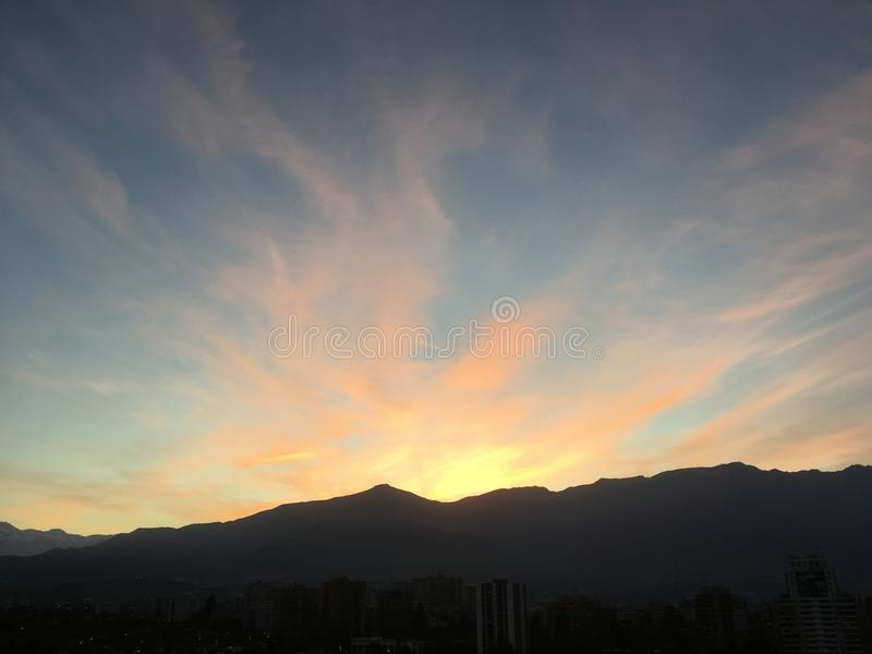 日出在智利 库存照片
