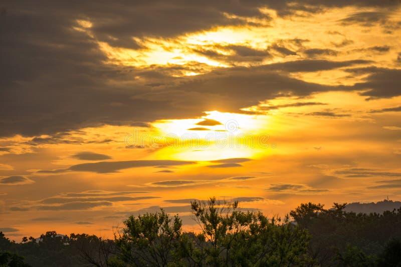 日出在蓝岭山脉 图库摄影