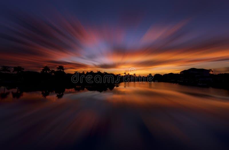 日出在那不勒斯,佛罗里达 免版税库存照片