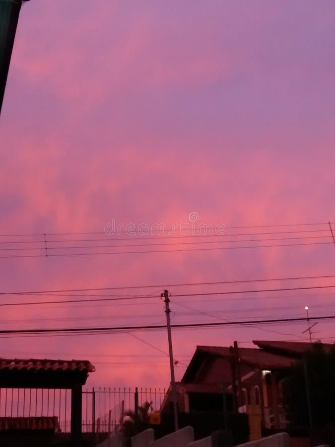 日出在阿雷格里港,巴西 免版税库存照片