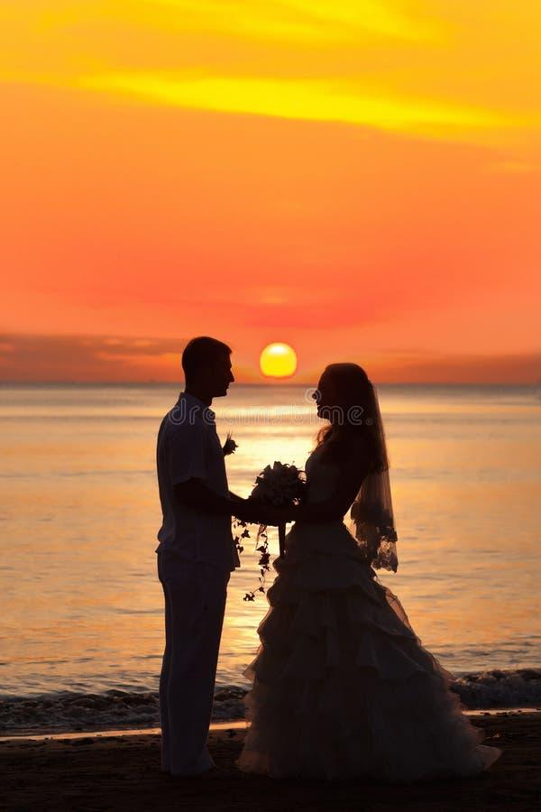 日出婚礼 库存图片