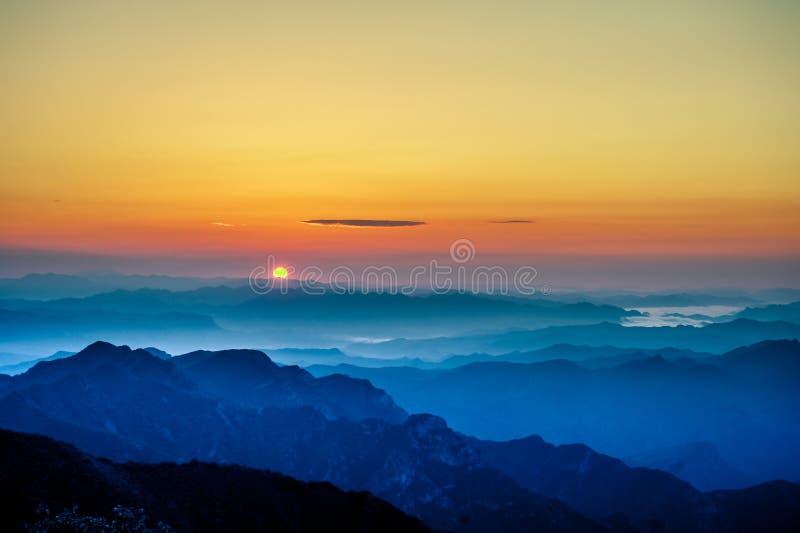 日出或日落 库存图片
