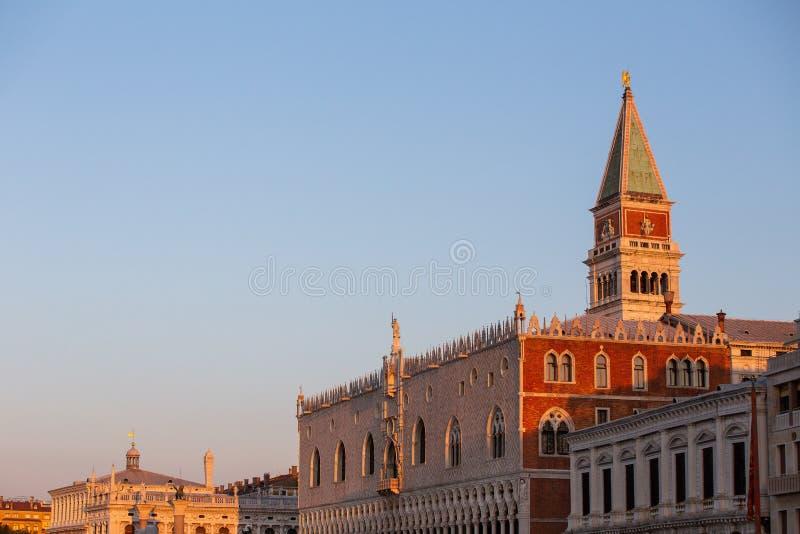 日出的威尼斯 图库摄影