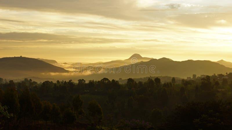 日出,孔索山,埃塞俄比亚,非洲 库存图片