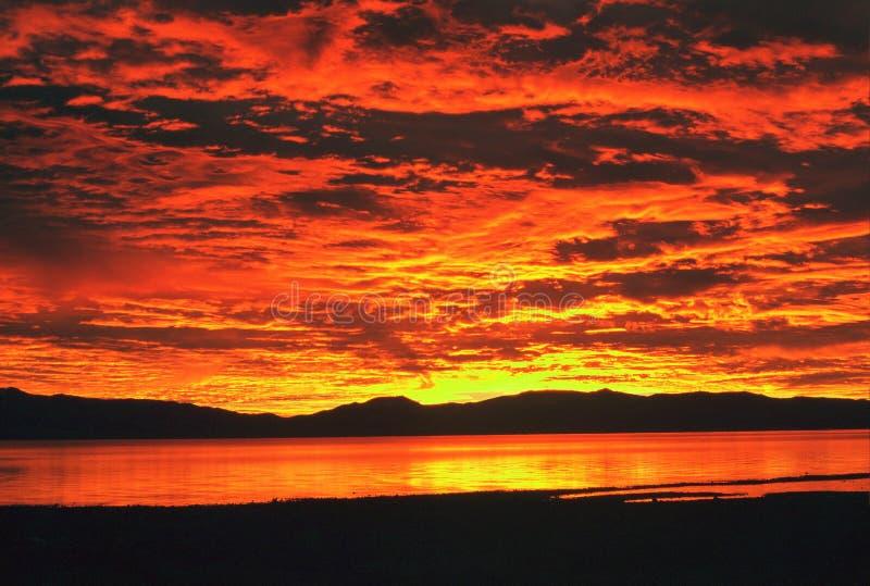 日出tahoe 库存照片