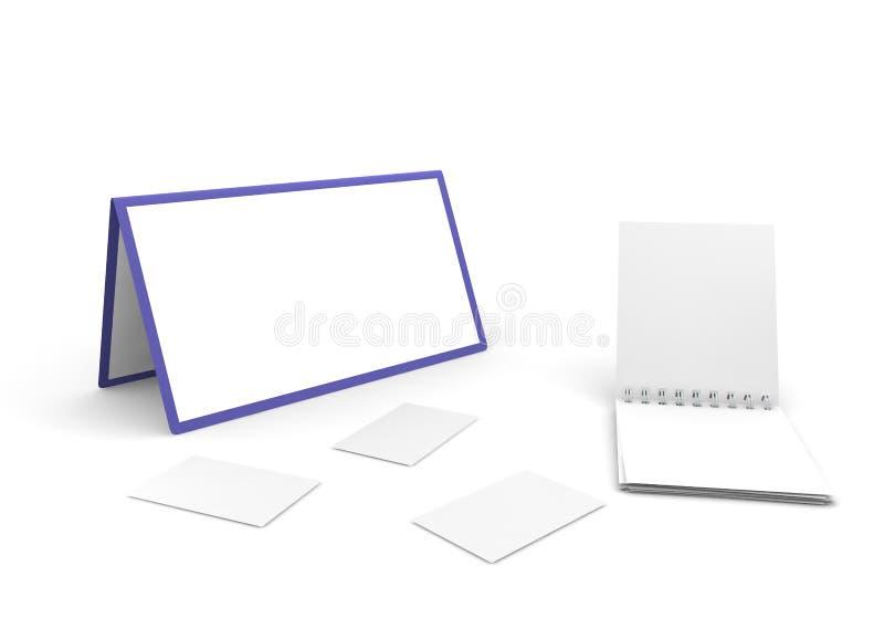 日历、笔记本和切面图 库存图片
