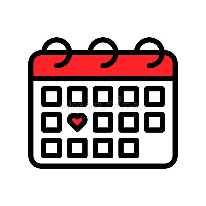 日历传染媒介例证,填装了样式象编辑可能的概述 向量例证
