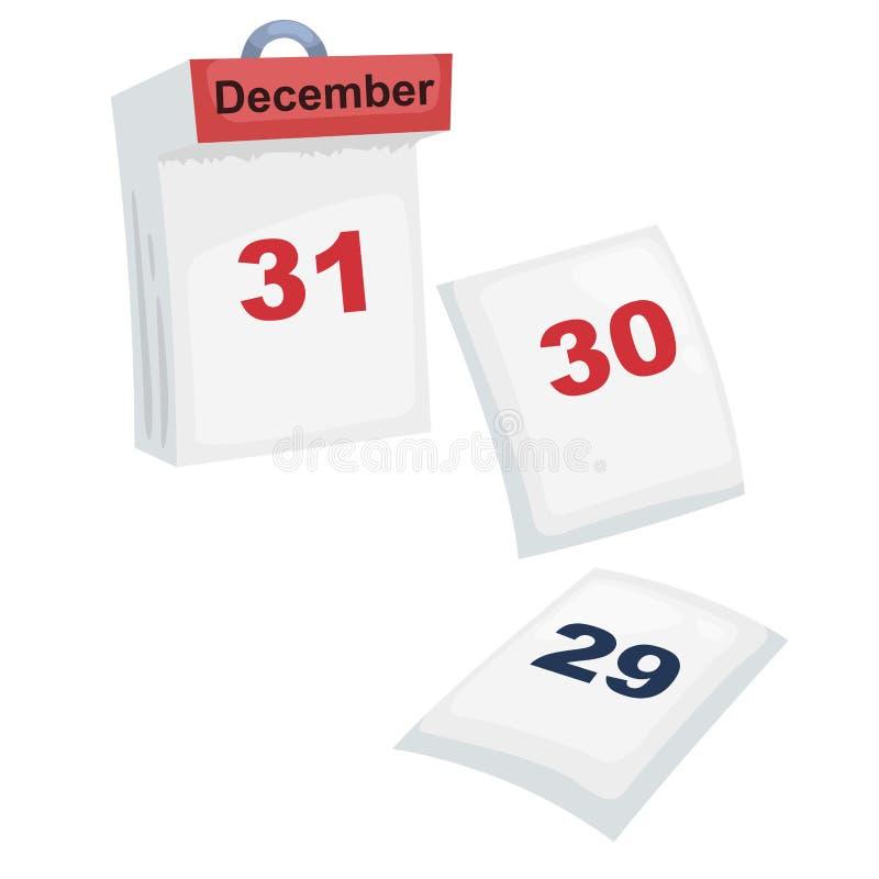 日历传染媒介 向量例证