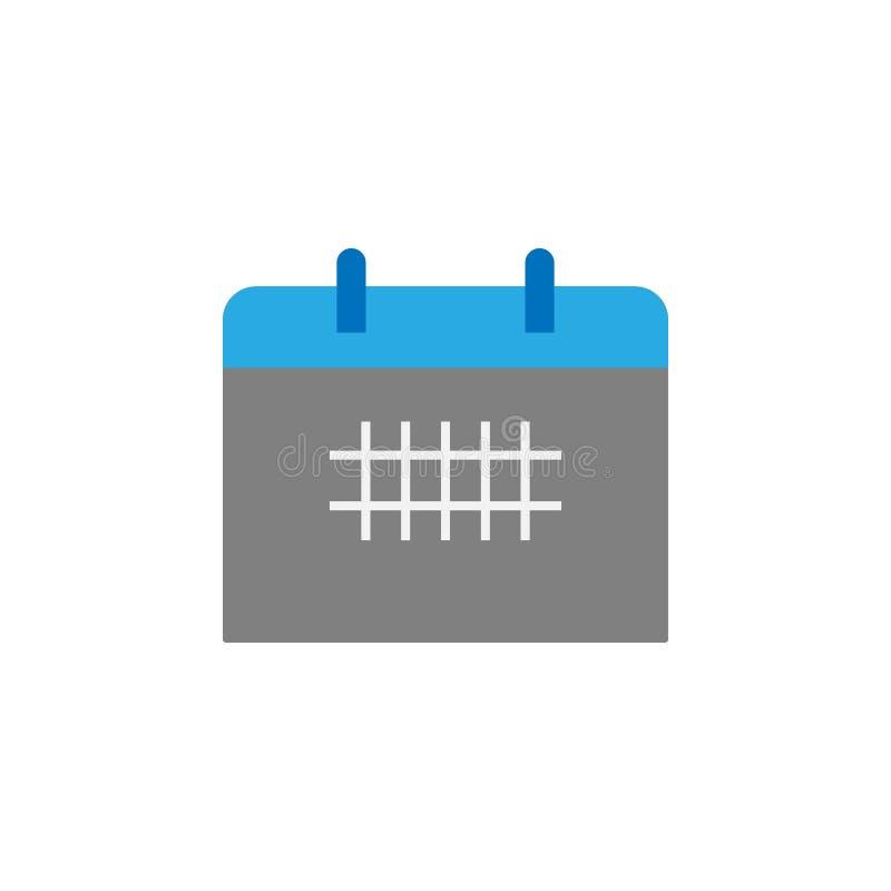 日历和日程表象 教育象的元素流动概念和网apps的 详述的日历和日程表象可以是 皇族释放例证