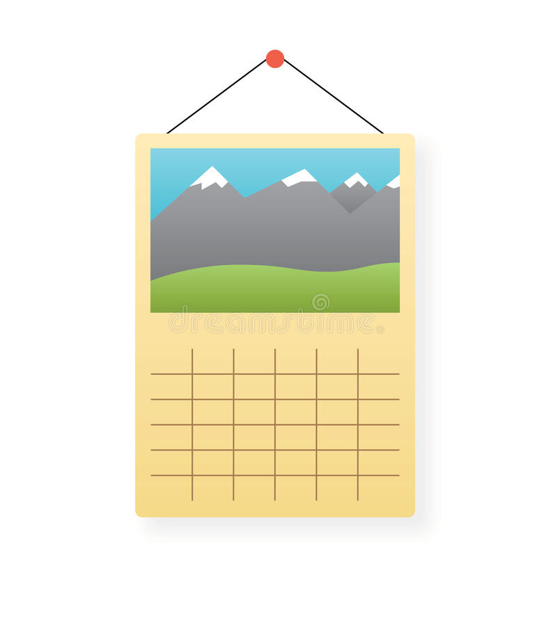 日历图标查出的向量墙壁 皇族释放例证