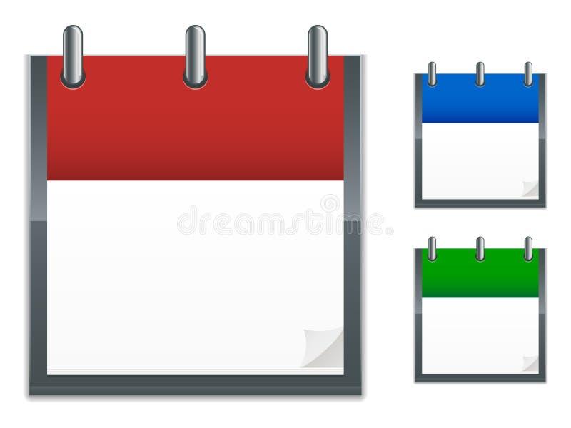 日历图标 向量例证