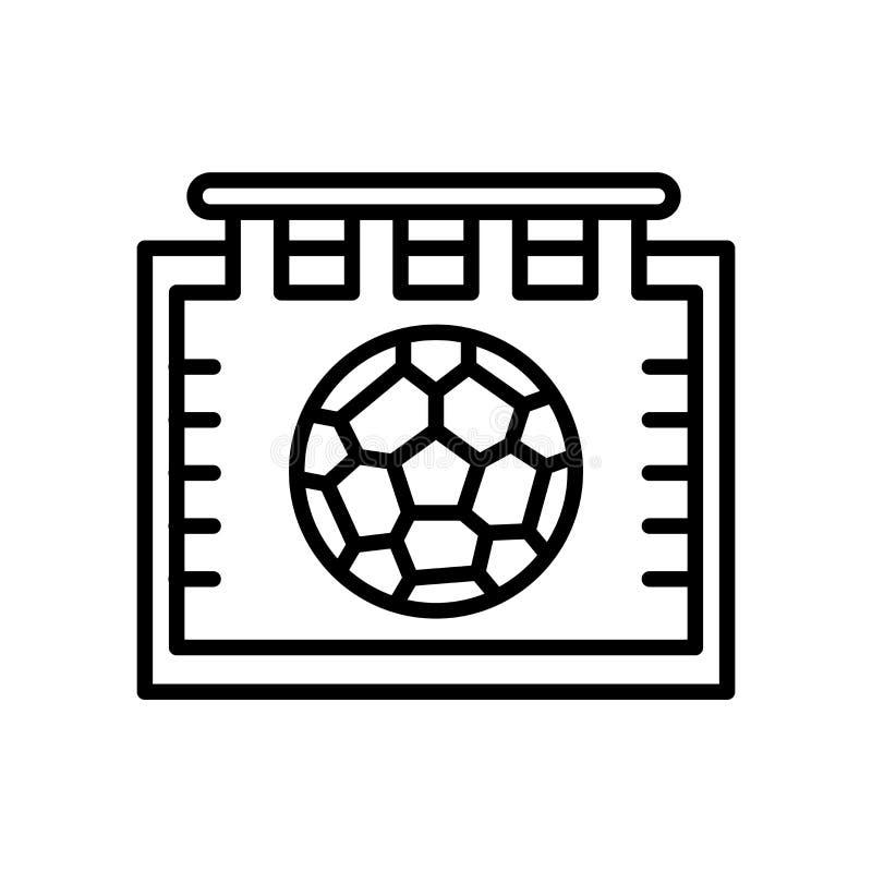 日历在白色背景、日历标志、线或者线性标志隔绝的象传染媒介,在概述样式的元素设计 皇族释放例证