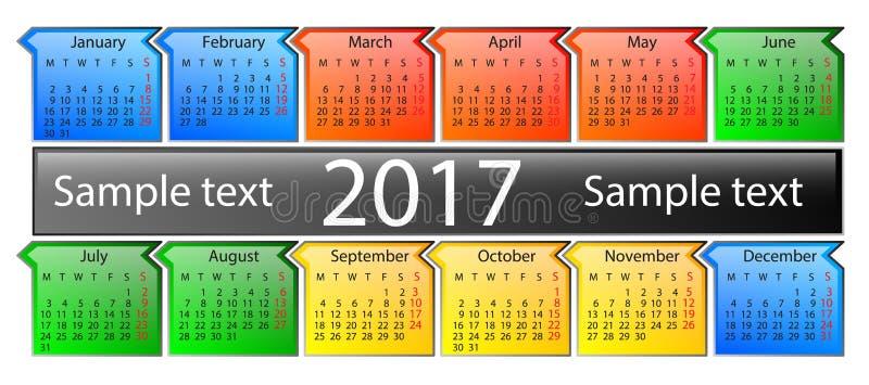 日历在2017年 库存图片