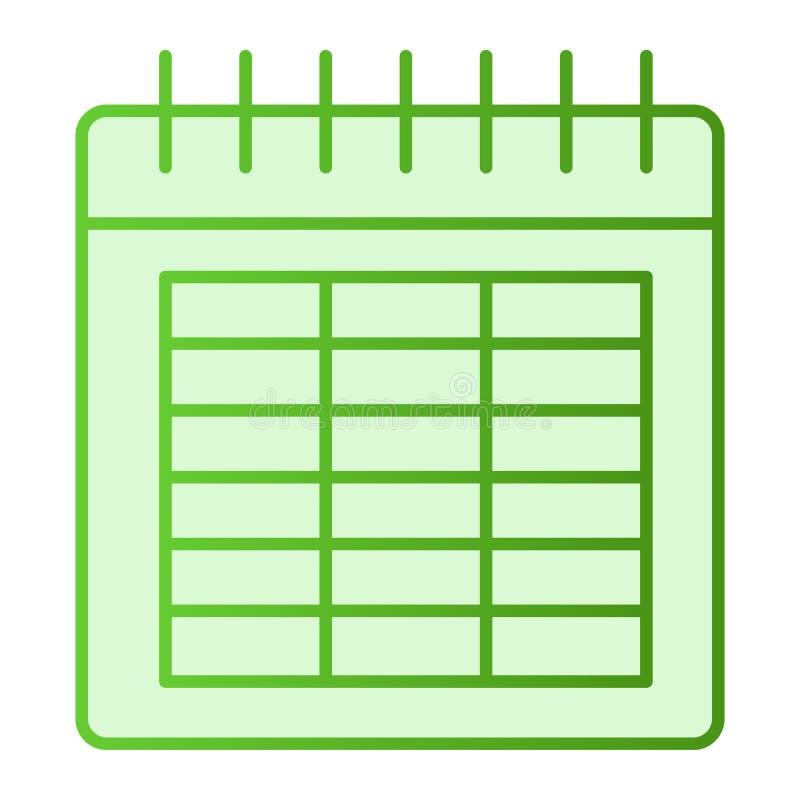 日历平的象 日期在时髦平的样式的绿色象 月梯度样式设计,设计为网和应用程序 10 eps 库存例证