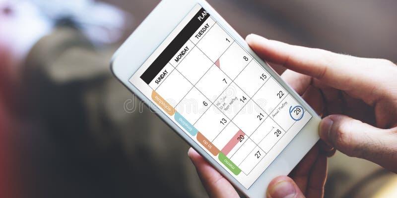 日历提醒通信数据信息概念 免版税库存图片