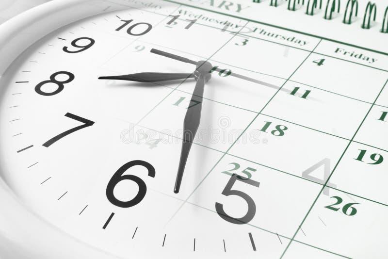 日历时钟 免版税库存照片