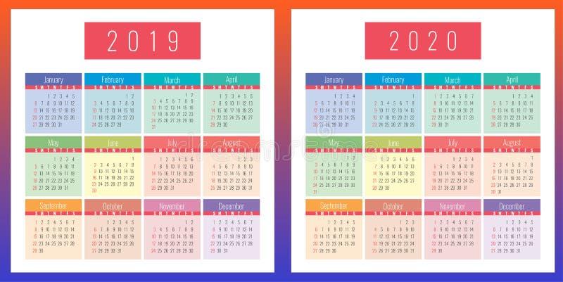 日历栅格设置了2019年和2020年图片