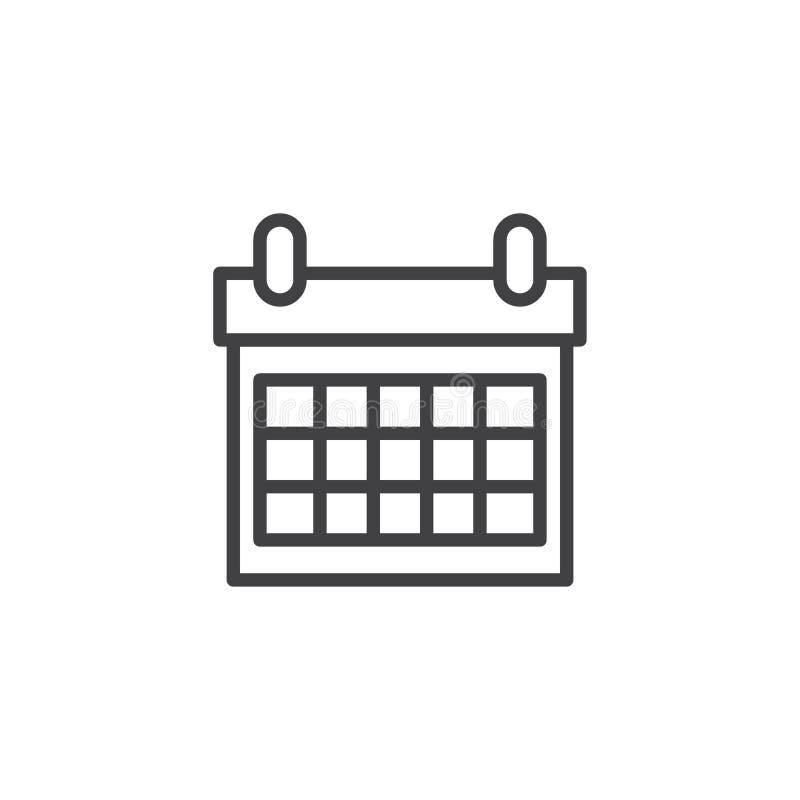 日历概述象 向量例证
