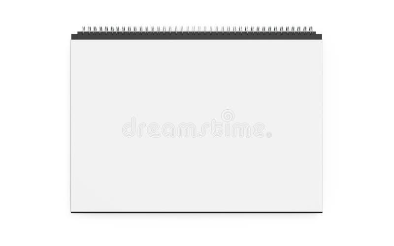 日历模板大模型3d设计回报被隔绝 库存例证