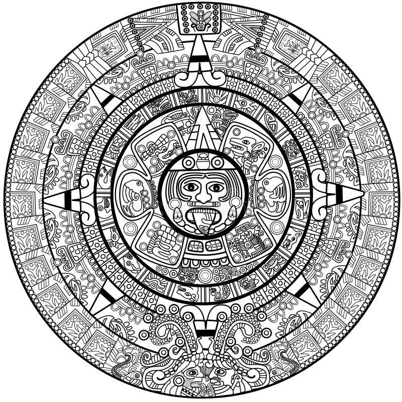 日历玛雅人 皇族释放例证