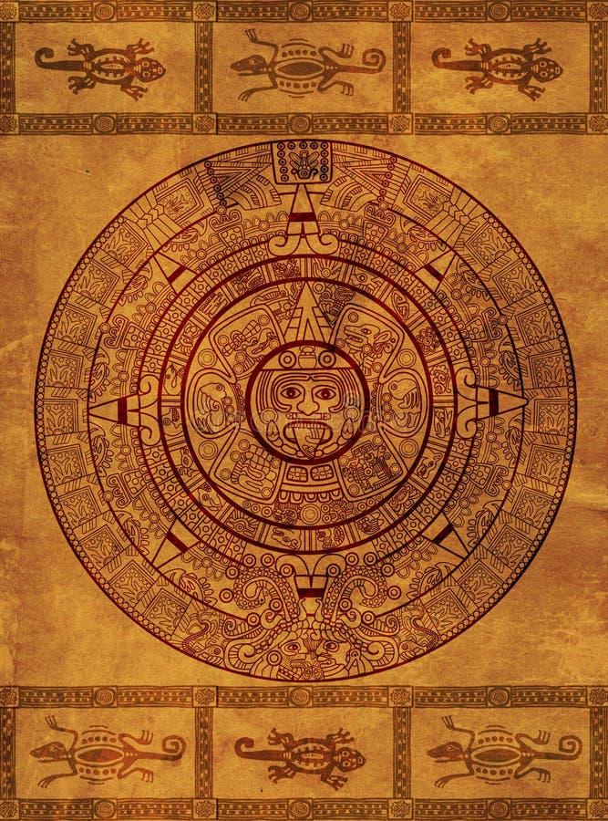 日历玛雅人 向量例证