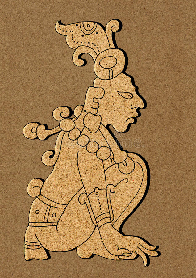 日历玛雅例证的玛雅人 皇族释放例证