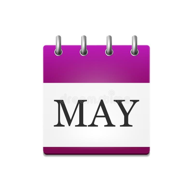 日历的例证在5月 库存例证