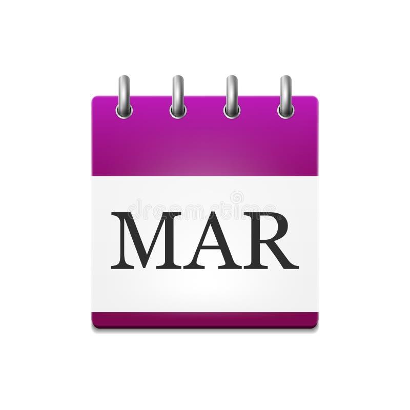 日历的例证在3月 库存例证