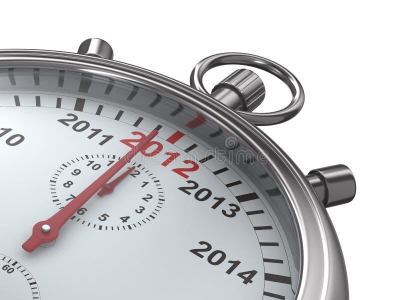 日历秒表年 向量例证