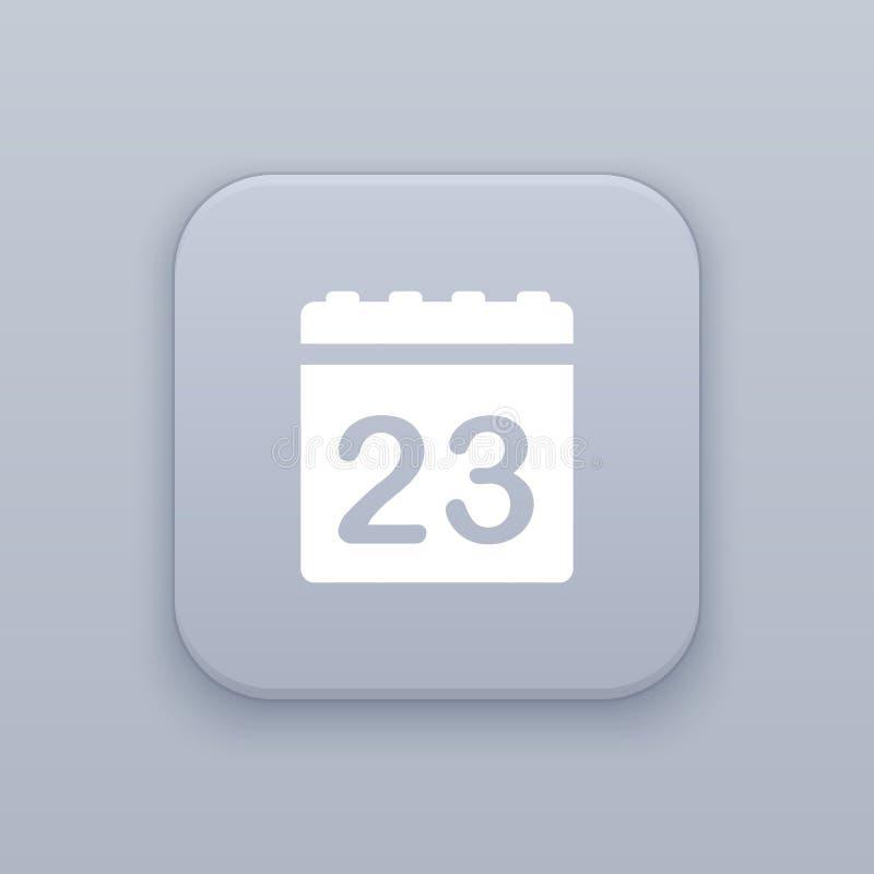日历,数据按钮,最佳的传染媒介 库存例证