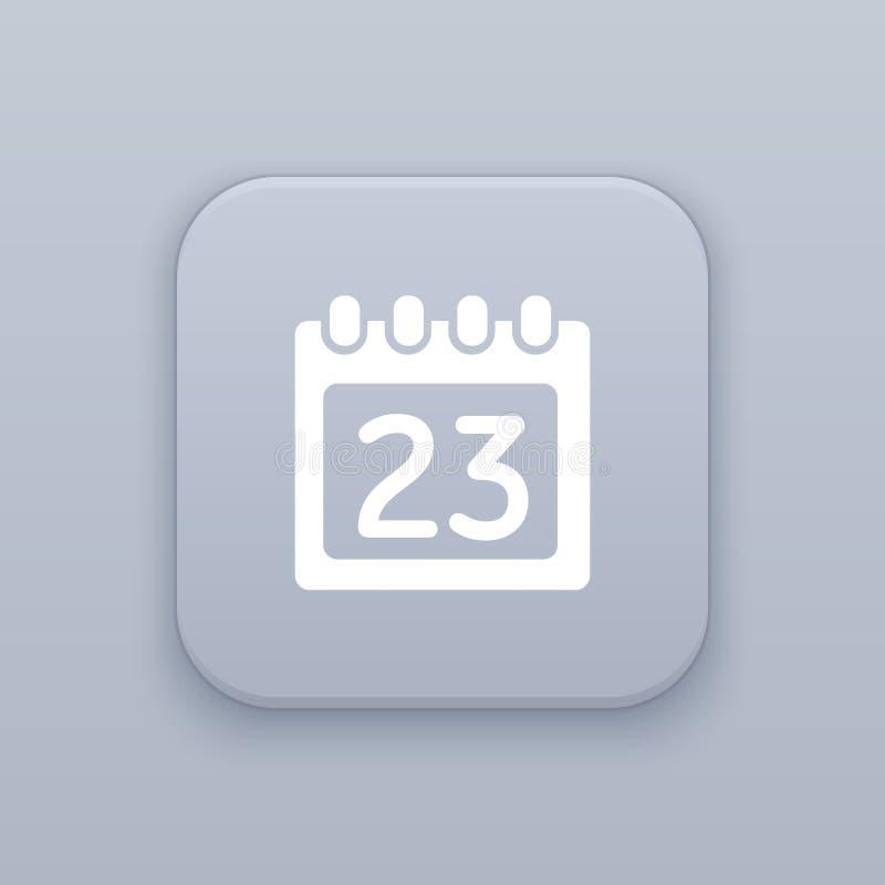 日历,数据按钮 向量例证