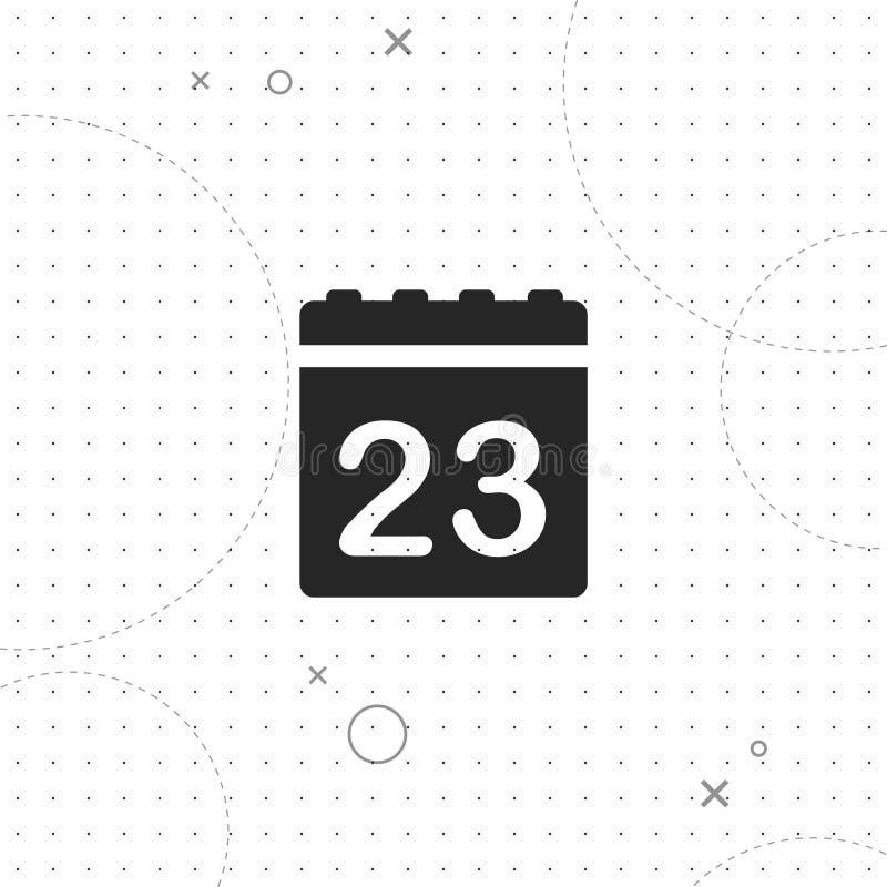 日历,数据,传染媒介最佳的平的象 库存例证