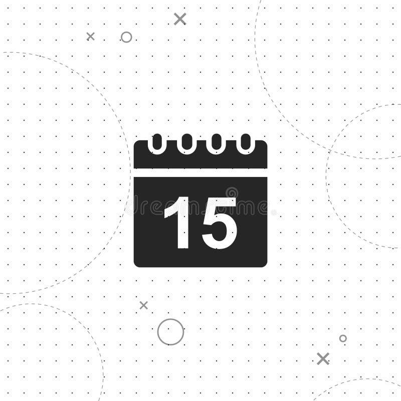 日历,数据,传染媒介最佳的平的象 向量例证