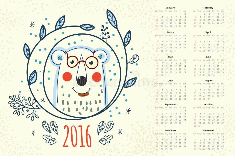 日历12个月 向量例证