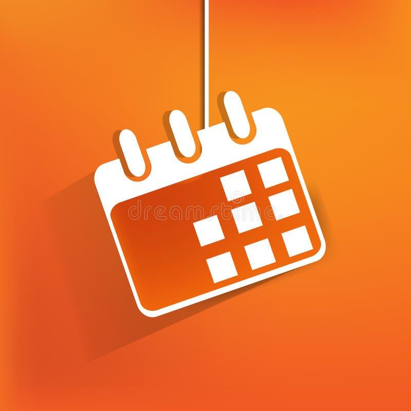 日历组织者网象,平的设计 向量例证