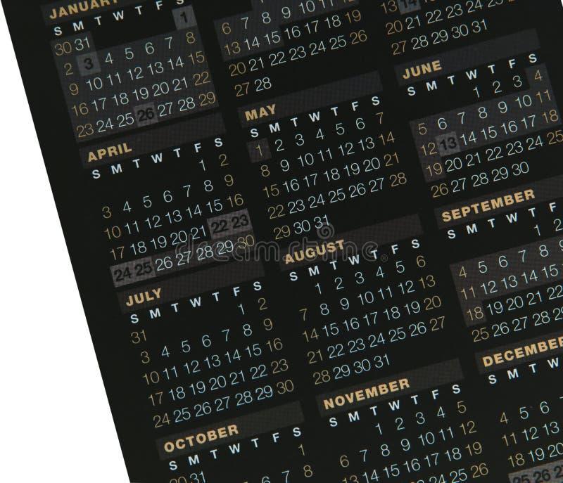 日历 免版税库存图片