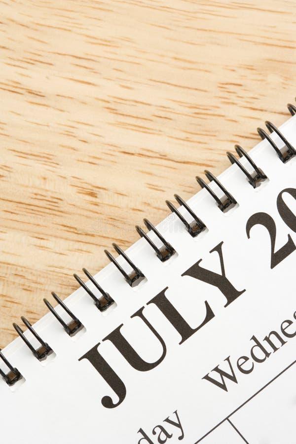 日历7月 免版税库存图片