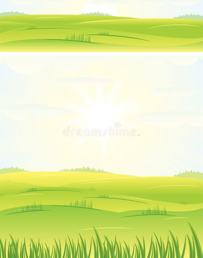 日夏天 向量例证