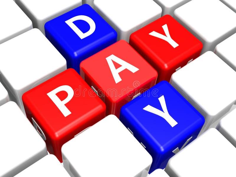 日工资 向量例证