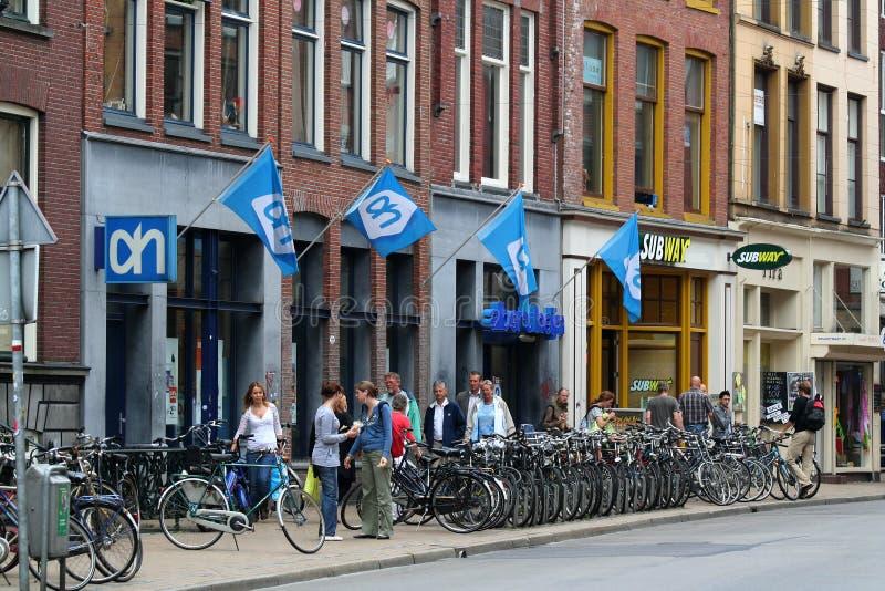 日常生活和城市视图在格罗宁根 免版税图库摄影