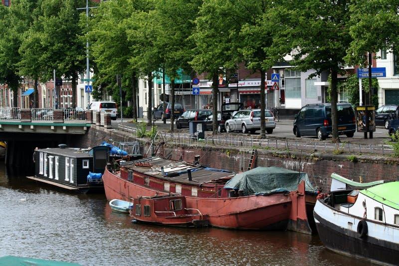 日常生活和城市视图在格罗宁根 库存照片