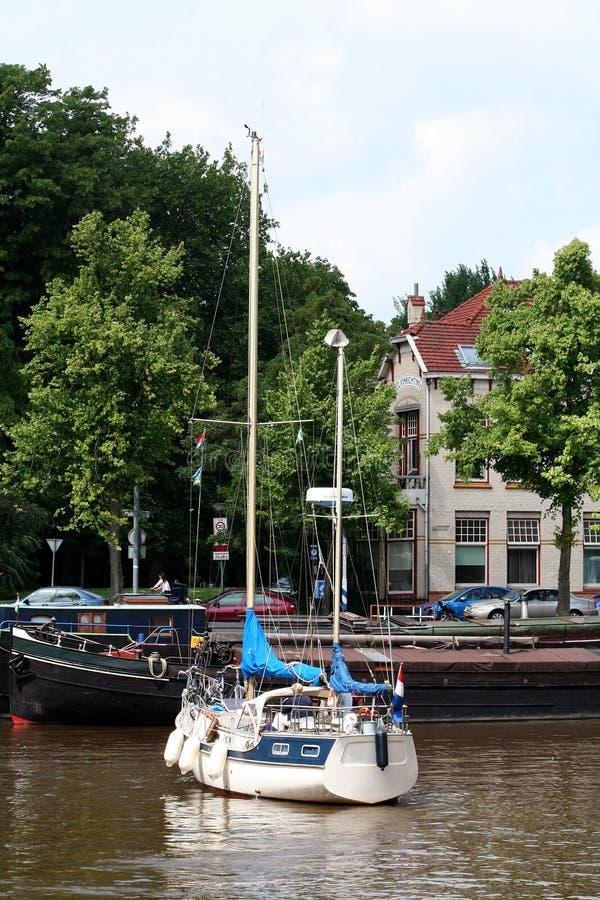 日常生活和城市视图在格罗宁根 免版税库存图片