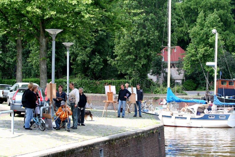 日常生活和城市视图在格罗宁根 免版税库存照片